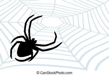 pająk, myśliwy