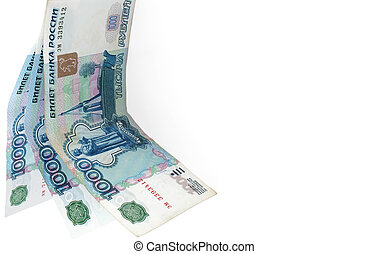 Three thousands. - Paper monies, three thousand roubles,...