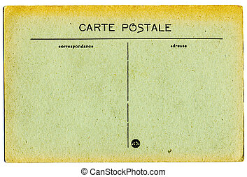 vintage French postcard - vintage postcard, blank space for...
