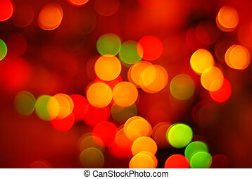 abstract christmas lights - Christmas lights in different...