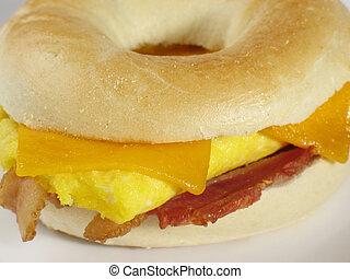 bagel, pequeno almoço, Areia