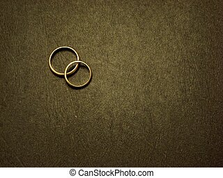 Wedding Rings - Wedding rings together on black background