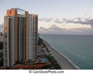 Sunny Isles Beach in North Miami, Florida