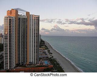 Sunny Isles Beach in North Miami, Florida