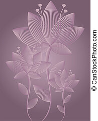 Abstract Flowers Greeting Card - Graphic illustration of...