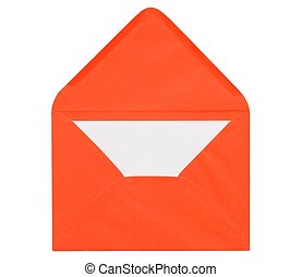 Letter - Orange envelope with letter inside isolated on...