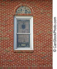 Stained Glass Windows - Arched vintage stained glass...
