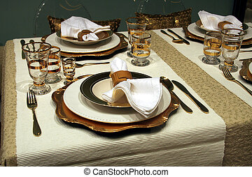 Table Setting at a Restaurant