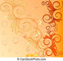 Romantic artistic background illustratio