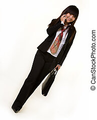 Young business woman - Full body of an attractive Chinese...