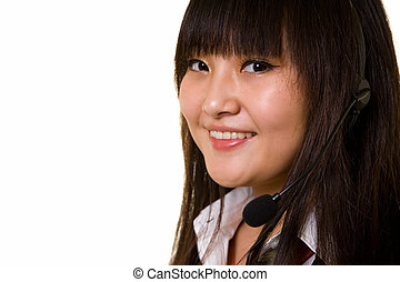 Smiling face - Face of a friendly young Chinese woman...
