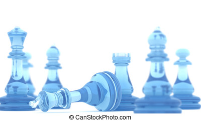 Checkmate - Chess pieces with dof and clipping path , 3d...