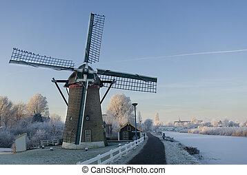 Dutch Mill in winter