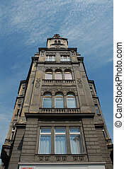 Prague thin decorative building - architecture, art,...