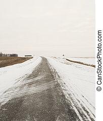 gloomy road