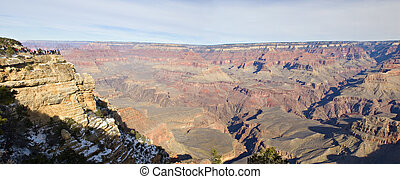 Panorama of Grand Canyon in Winter