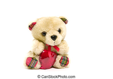 Teddybear with heart for Valentines day or other romantic...