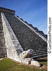 Mexico - Chichen Itza The main pyramid El Castillo is also...