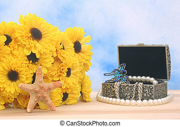 Jewelry Box and Flowers