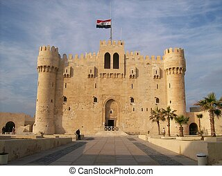Qaitbey citadel - A front view for qaitbey citadel in...