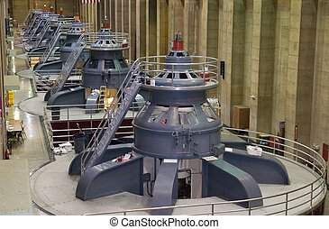 Power generators - Seven power generators at Hoover Dam