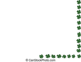 Shamrock Border Art Illustration created in Photoshop.