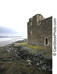 Coastal defence wall, Blackness Castle, Scotland