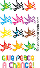 Peace Doves Symbol - Give peace a chance - One of a series...