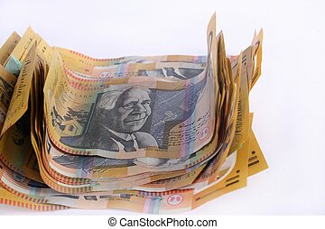 Fifty Dollar Notes - A bunch of Australian fifty dollar...