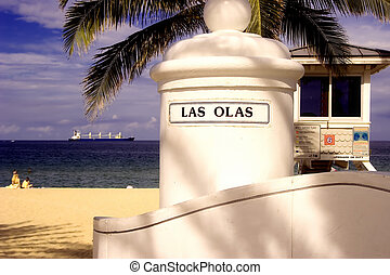 Las Olas Beach at A1A Ft Lauderdale