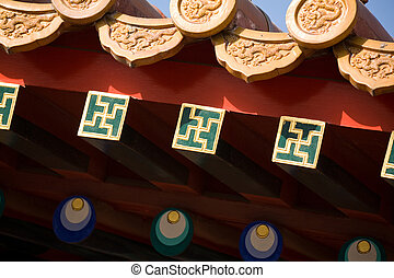 roof detail in Forbidden City - roof detail Forbidden City...