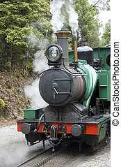 Rack and Pinion Steam Train - Detail - A close shot of a...