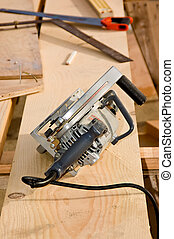 Circular Saw - A workman\\\'s circular saw and other tools...
