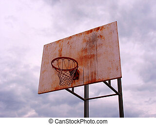 street ball - A shot of a playground basketball hoop and...