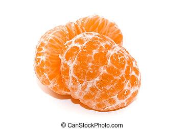 Slice of mandarin fruit ready for eat