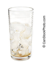 empty glass of cola