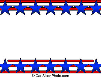 Stars and Stripes Background - A red White and Blue...