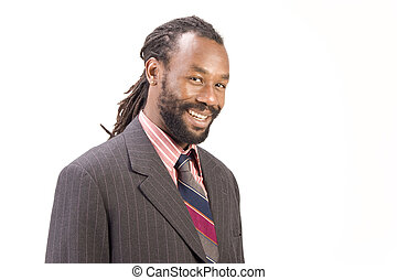 Black Model in pose - A black man with dreadlock hair...
