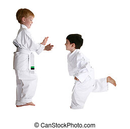 Sparring Partners in Karate - Martial arts sparring...