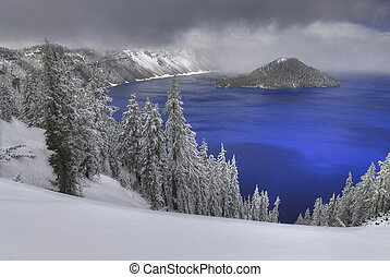 Crater Lake - This photograph of Crater Lake was captured in...