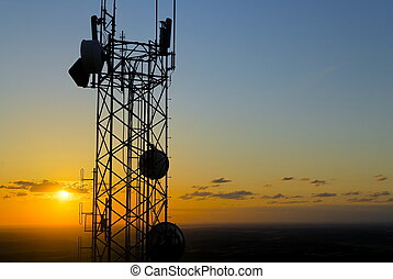 Palouse Communication Tow - Communication tower on top of a...