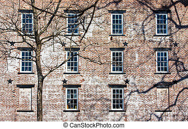 Old Brick Building - An old brick building Allaire Village,...