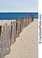 Fence on the Beach - An old wooden fence on the beach...