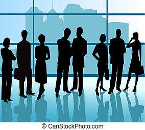 Business People - silhouette illustration