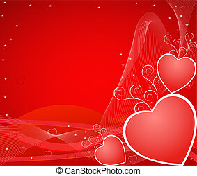 Romantic artistic background illustratio