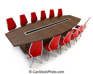 boardroom with table and chairs