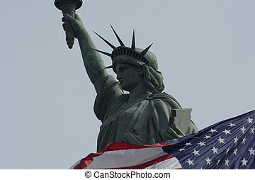 Statue of Liberty  symbol for freedom and the USA