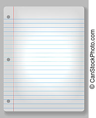 Spotlight Notebook Paper Background - Page of wide ruled...