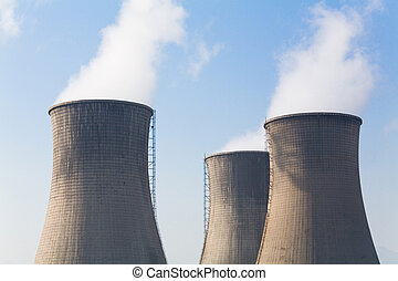 Cooling Tower and bue sky