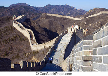 The Great Wall of China IV - View of a neglected portion of...